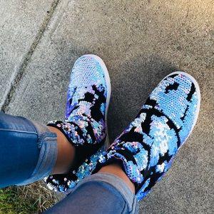 🆕Mermaid Sequin Slip On Sneakers